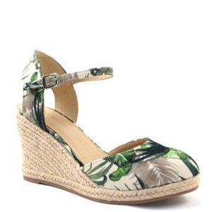 Shoes - NEW Green Multi Wedge Espadrilles